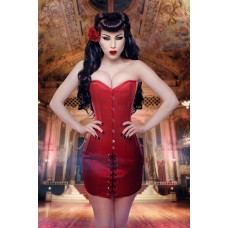 Duchess Satin Steel Boned Mini Corset Dress