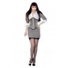 Black & White Stripe Fitted Bolero Shrug Top