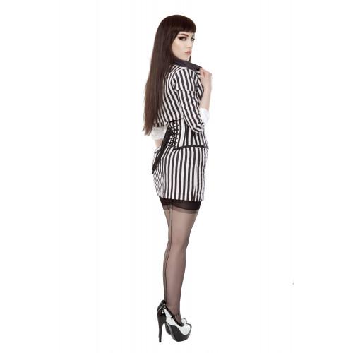 b86ac08ee5 ... Black   White Stripe Corset